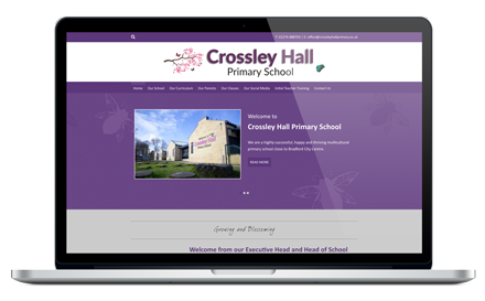Crossley Hall Primary School website